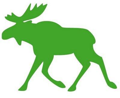 Autoaufkleber Sticker Rentier Elch grün Aufkleber