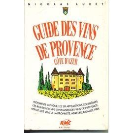 Guide vins de provence luret nicolas f29034