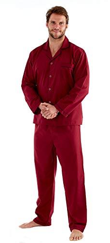 Strong Soul Herren Schlafanzug, 2-teilig Gr. M, burgunderfarben (Ganze Die Für Pjs Familie)