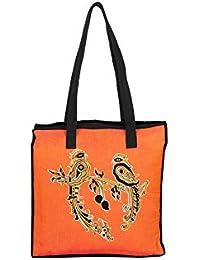 Anuradha Cotton Kalamkari Bird Printed Multicolor Hand Held Bag