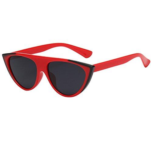 URIBAKY Unisex Vintage Cat Eye,Retro Sonnenbrillen Eyewear Blau ,Rund Verspiegelt Fashion Damen Mann