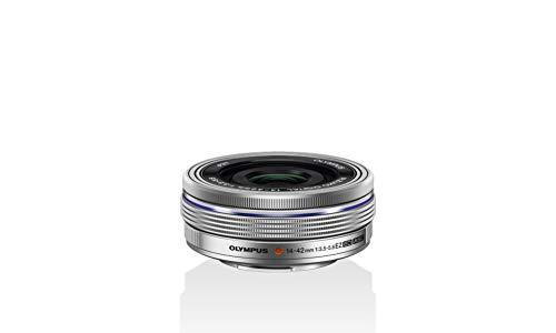 Oferta de Olympus Objetivo M.Zuiko Digital 14-42mm F3.5-5.6 EZ, zoom estándar, adecuado para todas las cámaras MFT (modelos Olympus OM-D & PEN, serie G de Panasonic), plata