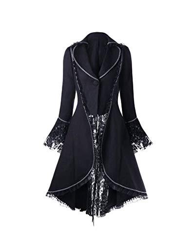 Damen Renaissance Mittelalter Halloween Kostüm Viktorianisches Kleid Retro Partykleid Cocktailkleid...