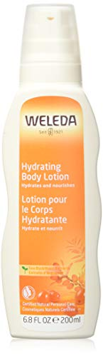 WELEDA Sanddorn Reichhaltige Pflegelotion, vitaminreiche Naturkosmetik Bodylotion zur nachhaltigen Pflege trockener Haut und angenehmen Duft, geeignet für Allergiker (1 x 200 ml)