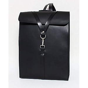 31DB9BdGOcL. SS300  - Mochila para portátil de cuero, para hombre, bolso viaje para ordenador, negro