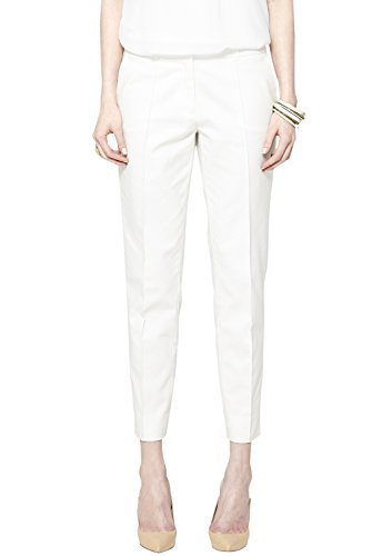s.Oliver BLACK LABEL Damen 7/8 Hose 11.504.76.4609, Gr. 38, Elfenbein (sunshine white 0115)
