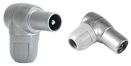 Oferta de Televés F4312300 Conector macho diámetro 9,5mm + 0 Conector hembra diámetro 9,5mm
