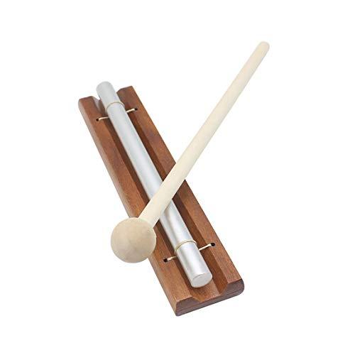 Einzelton-Windspiele mit Mallet-Sound Pädagogisches Orff-Schlaginstrument (Farbe: Holzfarbe & Silber) - Echo-wind Chime