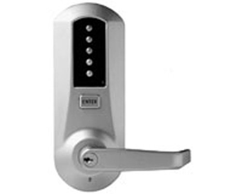 Kaba 5021XSWL-26D-41 Cylindrical Push Button Lock With Lever Xs Ko Us26D, Satin Chrome by Simplex (Satin Ko)