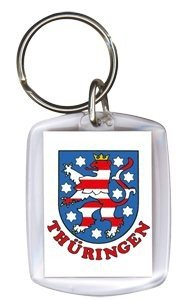 Preisvergleich Produktbild Schlüsselanhänger mit Motivdruck - THÜRINGEN - 03316 - Schlüsselanhänger Keyholder