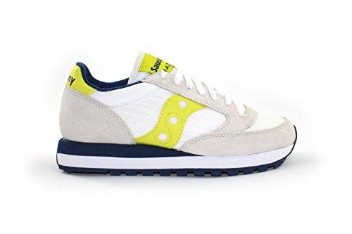 SAUCONY uomo sneakers basse S2044-365 JAZZ ORIGINAL 46 BIANCO-GIALLO