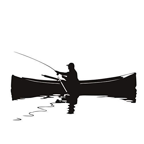 Weaeo Retro Home Decor Fototapete Ein Mann Angeln Auf Dem Boot Wandaufkleber Wohnzimmer Hintergrund Dekoration - Angeln Home Decor