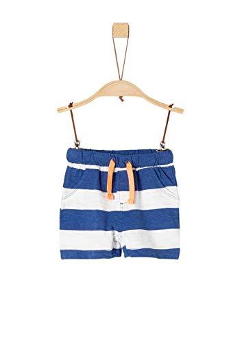 s.Oliver Baby-Jungen 65.904.75.4982 Shorts, Blau (Blue Stripes 55g3), (Herstellergröße: 86) - Baby-jungen-short