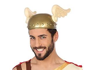 Atosa-49368 Casco Dios Griego Hermes, Color Dorado, única (49368