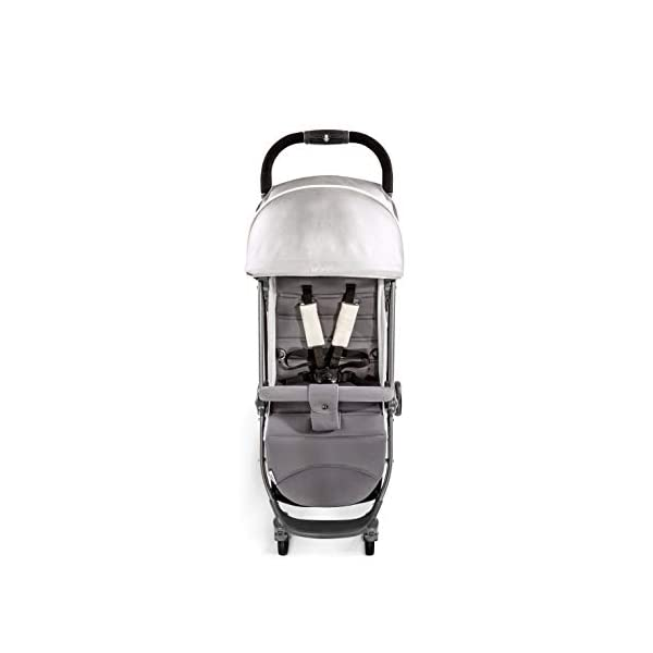 Hauck Swift Plus, Compact Pushchair with Lying Position, Extra Small Folding, One Hand Fold, Lightweight, Carrying Strap, from Birth Up To 15 kg, Lunar Hauck Our smallest comfort stroller Extra small and fast folding with one hand Extremely light - easy to carry over the shoulder 2