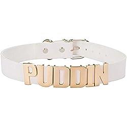 Ajustable Cuello Alto Blanco Oro puddin Gargantilla Collar Collar para mujeres niñas accesorios de moda