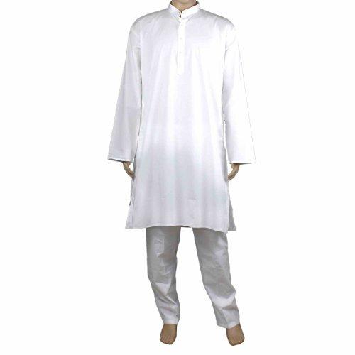 Kurta Pyjama Set aus Baumwolle für Herren - Traditionell chinesische Tracht - Perfekt für Sommeroutfit (Indische Tracht Für Männer)