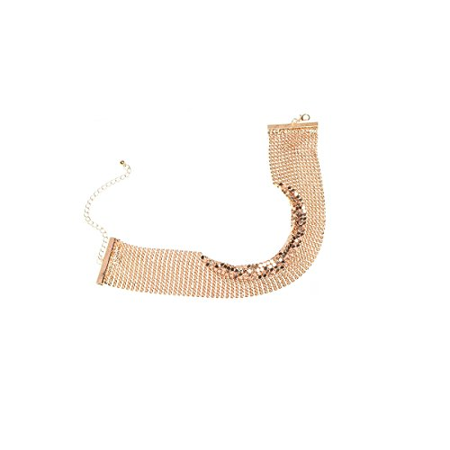 modeschmuck Europäische version der elemente der weiblichen halskette Retro einfache Kette übertrieben halskette Gold Kupfer