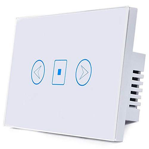 SODIAL Interruttore Luce Dimmer Wifi Alexa Intelligent Voice Control App Interruttore Controllo Remoto Intelligente (Bianco)