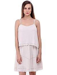 Bonhomie Women Offwhite Strapy Layer Dress