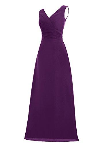 Dresstells, Robe de soirée sans manches col en V, robe de cérémonie, robe longue de demoiselle d'honneur Ivoire