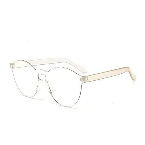 Passionate turkey Leidenschaftliche Truthahnfrauenmänner Arbeiten klare rahmenlose Brillengläser der Retro- Sonnenbrille im Freien um, 9-transparent