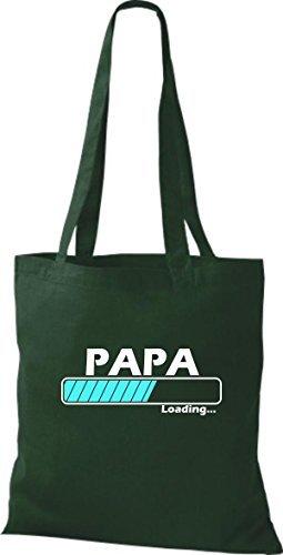 JUTA Borsa di stoffa Papa loading VARI COLORI Verde