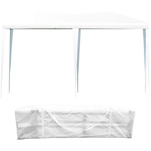 Gazebo da Giardino Pieghevole 3 X 6 m Tenda Padiglione da Giardino per Campeggio (Bianco)
