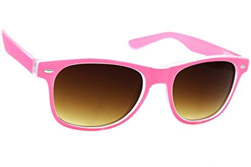 Damen Herren Lesebrille Sonnenbrille +Zip Case +1.5 +2.0 +3.0 +4.0 Slim Sun Readers Perfekt für den Urlaub Retro Vintage Brille MFAZ Morefaz Ltd (+1.5 Sun, Pink)