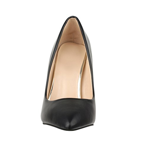 Elara Damen Pumps Spitz | Moderne High Heels | Bequeme Stilettos | Chunkyrayan Schwarz