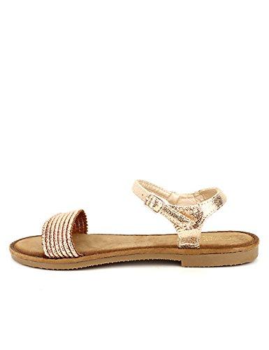Cendriyon Sandale Dorée HALOANA Chaussures Femme Doré