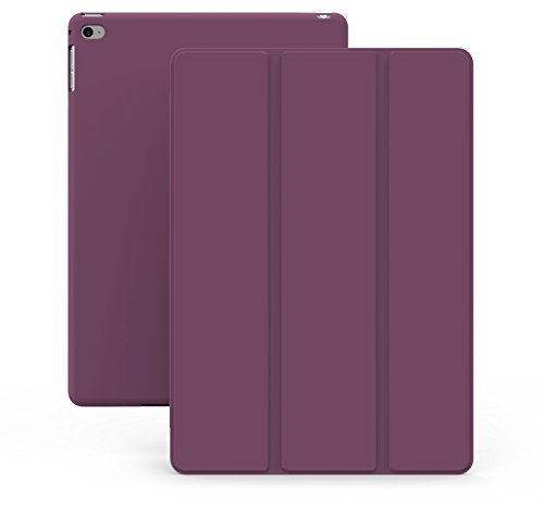 KHOMO Ultra-dünne und leichte Schutzhülle mit Ständer für iPad Air 2,Dual-Lila (Lila 2 Ipad Fall)