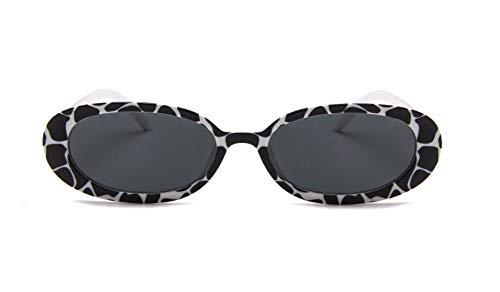 WSKPE Sonnenbrille Ovaler Rahmen Sonnenbrille Brille Kuh Mit Kleinem Rahmen Rahmen Graue Linse
