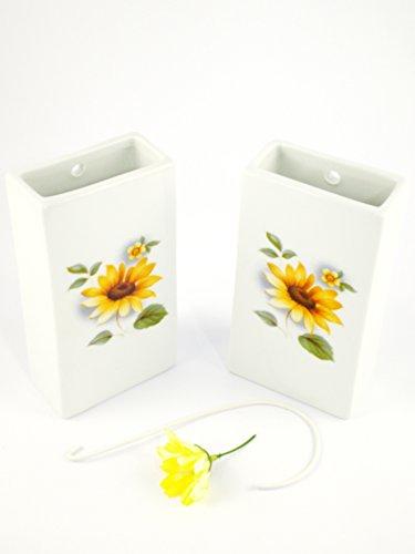Abc_baño humidificador de Porcelana Decorada para radiador Flor Girasol 2unidades
