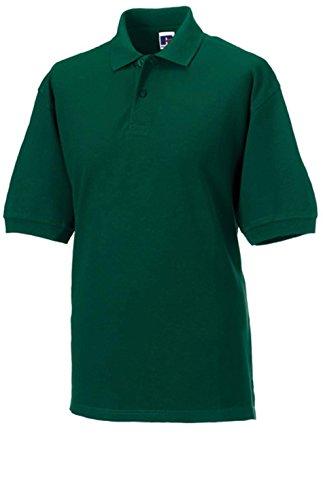 Klassisches Piqué Poloshirt Bottle Green