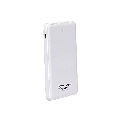 Essot BIS Approved 5000mAh Ultra thin Li-Polymer Portable Power Bank With Inbuilt Micro USB cable(White)  available at amazon for Rs.699