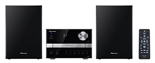 Pioneer-X-EM22-Micro-Hifi-System-2x-15-Watt-Bluetooth-Front-USB-CD-schwarz