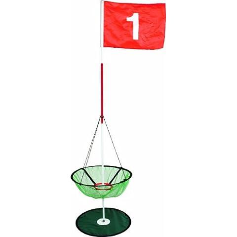 Longridge - Traguardo con bandierina e coppa per palline, colore: Rosso, Bianco, Nero, Verde