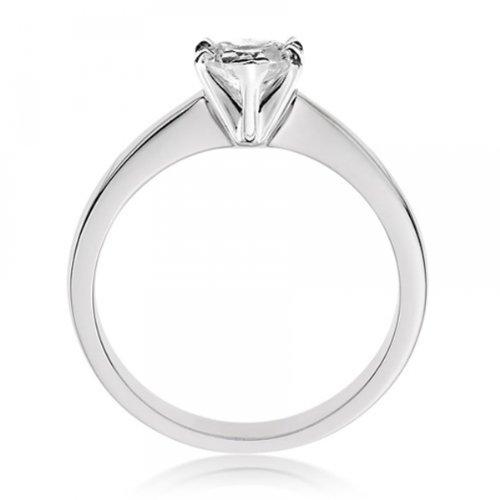 Diamond Manufacturers, Damen, Verlobungsring mit 0.41 Karat F/VS1 feinem und zertifiziertem Herzdiamant in Platin - 2