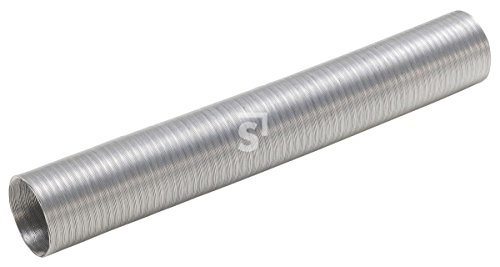 Schössmetall Aluminium Luftschlauch Vorwärmschlauch Ansuagschlauch Alu 55 x 1000 mm