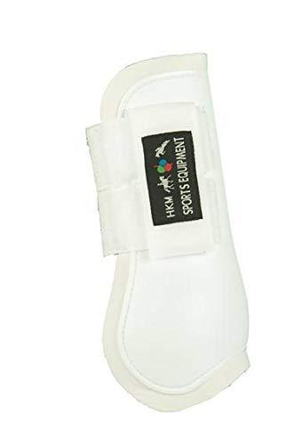 HKM 561143 HKM Springgamaschen Softopren für Vorderbeine, Vollblut/Warmblut, weiß/weiß