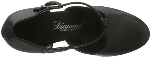 Diamant Damen Tanzschuhe 053-006-034, Scarpe con Tacco Donna Nero (Wht/dk Blu X96)