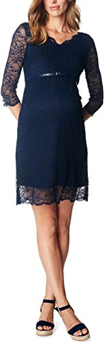 ESPRIT Maternity Damen Umstandskleid Q84289, Blau (Night Blue 486), 38