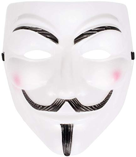 YIDAINLINE Anonymous Maske Vendetta Halloween Karneval Kostüm Anonymus Maske Guy Fawkes Maske Guy Fawkes Maske V wie for Vendetta Mask - Guy Fawkes Kostüm Kinder