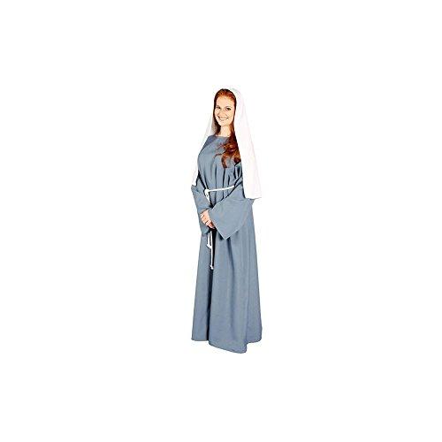 Burgund biblischen Bauer Lady Kostüm für Erwachsene Gr. Einheitsgröße , - Biblische Kostüm