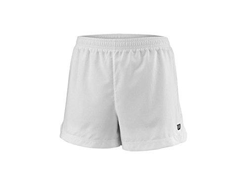 Wilson Mädchen Tennis-Shorts, G Team 3.5'' Short, Polyester, Weiß, Größe: S, WRA766801 - Große Kinder Usa-basketball-shorts
