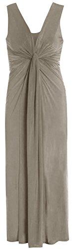 Chocolate Pickle ® Femmes Twist Knot Groupe grecque Boob longue Maxi robe de soirée Moka