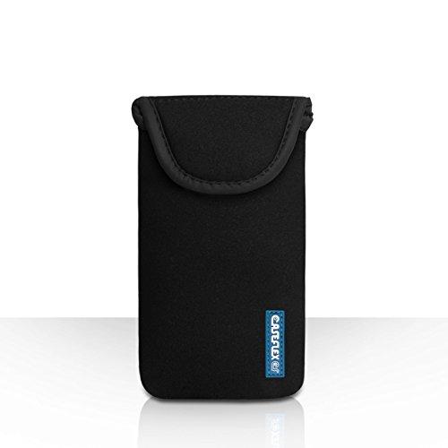 Caseflex HTC One S9 Tasche Schwarz Neoprene Beutel Hülle