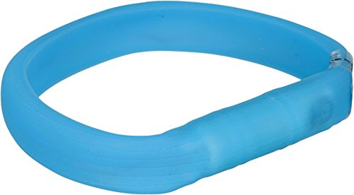Trixie 12681 Flash Leuchtband USB, M-L: 50 cm/18 mm, blau