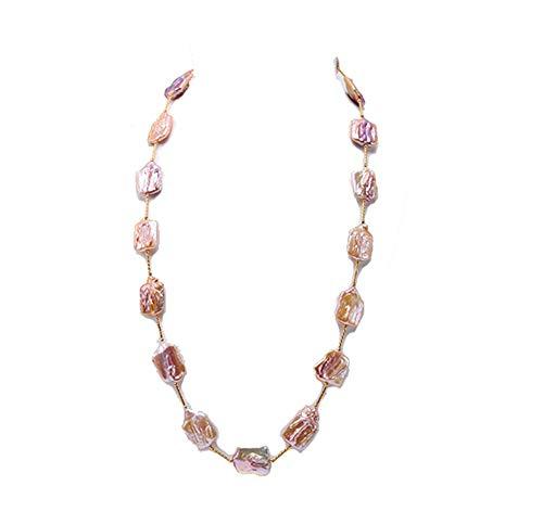 JYX Pearl  -  Sterling-Silber 925  Lavendel  Barock Süßwasser-Zuchtperle   Perle